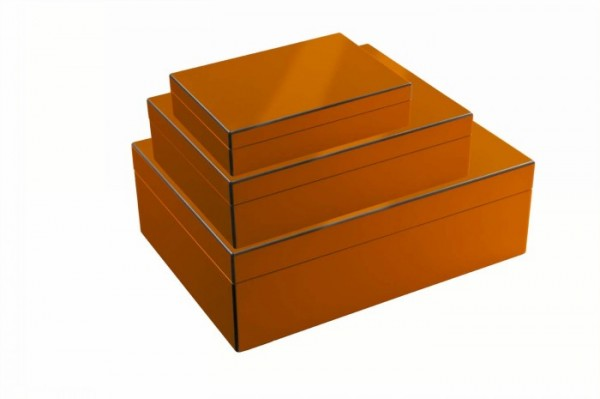 Dekobox orange, 3er Set