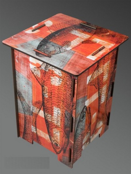 Hocker Red Fisch