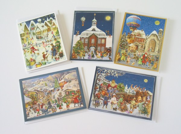 5 Briefkarten Adventskalender