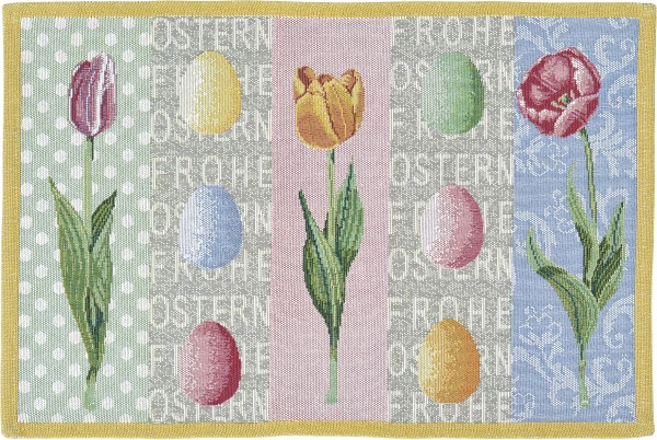 Tisch-Set Ostertulpen, 2er Set